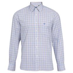 Alan Paine Aylesbury Hemd Langarm - blau/beige
