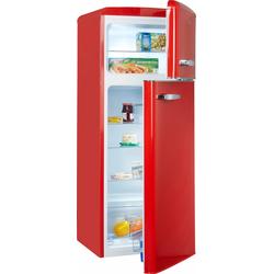 Kühl-/Gefrierkombination, 144 cm hoch, 55 cm breit, Kühlgefrierkombinationen, 88371500-0 rot rot