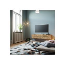 Yurupa Wohnwand TV Board hängend Lowboard Hängeschrank Hängeboard Wohnwand