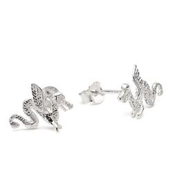 Vinani Paar Creolen, Vinani Ohrstecker Drachen Sterling Silber 925 Ohrringe ODF