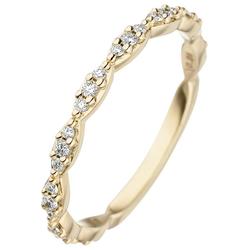 JOBO Diamantring, 585 Gold mit 27 Diamanten 58