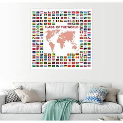 Posterlounge Wandbild, Flaggen der Welt 70 cm x 70 cm