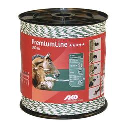 Weidezaunlitze Premium Line, 500 m, weiß/grün