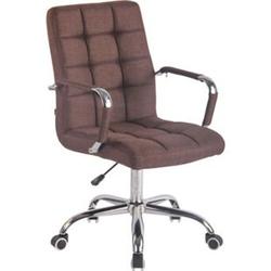CLP Bürostuhl DELI mit Stoffbezug und hochwertiger Polsterung I Drehstuhl mit höhenverstellbarer Sitzhöhe... braun