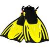 Aquazon AQUAZON Flosse AQUAZON ALICANTE Verstellbare Flossen, Schnorchelflossen, Taucherflossen, Schwimmflossen für Kinder und Erwachsene zum Schnorcheln, Schwimmen gelb 32/37