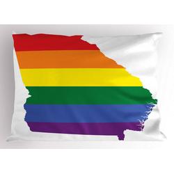 Abakuhaus Kissenbezug Dekorativer Standard King Size Gedruckter Kissenbezug,, Georgia Bunte Streifen Homosexuell Pride