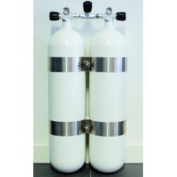Polaris 2x15 Liter Doppelgerät mit DIN Ventilsatz & V4 Tec-Schellen...