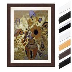 Bilderdepot24 Wandbild, Odilon Redon - Etruskische Vase mit Blumen bunt 40 cm x 60 cm