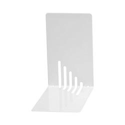 WEDO Buchstütze Buchstützen Metall 14 x 8,5 x 14 cm weiß, 2 Stück weiß