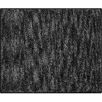 Badteppich, 100% Polyester, luxuriös, Braun, anthrazit, 50 x 60 cm