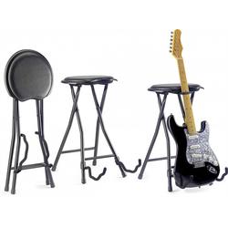 Stagg Gitarrenständer Hocker mit Gitarrenständer