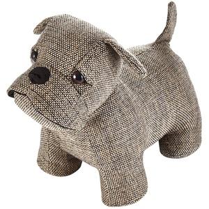 HEITMANN DECO Türstopper Hund/Mops - Fensterstopper Tier aus Stoff - Deko Kinderzimmer, Wohnzimmer - Braun