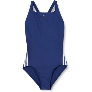 adidas Mädchen Badeanzug FIT Suit 3S Y, Indtec/Blanco, 110 (4/5 años), FL8668