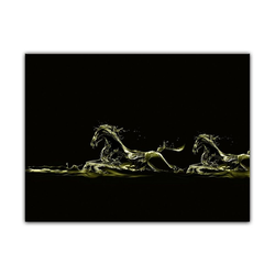 Bilderdepot24 Leinwandbild, Leinwandbild - Pferde 120 cm x 90 cm