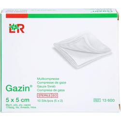 GAZIN Mullkomp.5x5 cm steril 8fach 10 St.