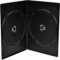 MediaRange BOX14-7-100 CD-Hülle Schmales Gehäuse 2 Disks Schwarz - 100 Stück,