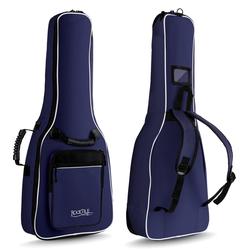 Rocktile Klassik-Gitarrentasche 1/2 - gepolstert mit Rucksackgarnitur blau
