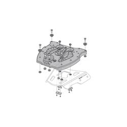 SW-Motech Adapterplaat voor ALU-RACK - Voor TRAX topcase. Zwarte., zwart