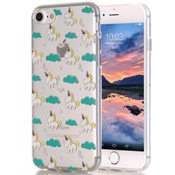 Silikon Handyschale für iPhone 8 - Einhorn