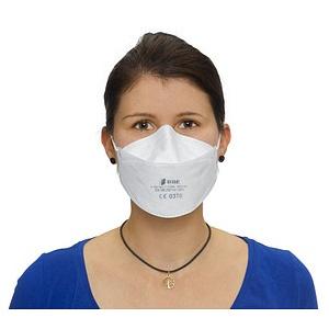 50 BBE SOLUTIONS Atemschutzmasken Y20N FFP2 NR EN 149:2001, A1:2009, CE 0370