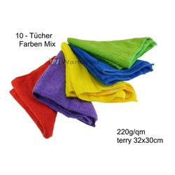 10 x WamSter ECO Mikrofasertuch Faben mix Poliertuch 32 x 30 cm 220g/qm