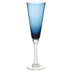 Secret de Gourmet Weinglas, Glas blau