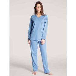 CALIDA Nachthemd Pyjama lang (2-tlg) Made in Europe blau XL = 52/54
