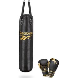 Reebok Boxsack Combat Boxsack mit 12 Oz Boxhandschuhen