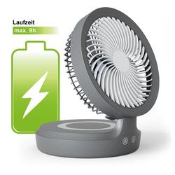 Eldstad Tischventilator Eldstad Mini USB Ventilator LED Licht Akku Schreibtisch 4 Stufen