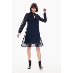Garcia A-Linien-Kleid mit durchsichtigen Ärmeln S