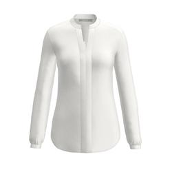 bianca Langarmbluse DELILA, mit eingelegter Falte an der Front weiß Damen langarm Blusen Tuniken
