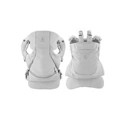 Stokke Babytrage Stokke® MyCarrier™ Bauch- und Rückentrage – Mitwachsende Babytrage für Neugeborene – 3 in 1 Tragesystem aus Bio-Baumwolle – Ultraleicht & ergonomisch grau