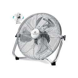 KESSER Standventilator, Windmaschine Retro Stil Ventilator in Chrom Standventilator Tischventilator Bodenventilator 3-Stufen robuster Stand stufenlos neigbar silberfarben