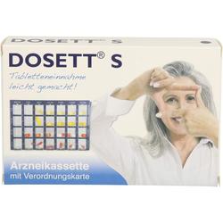 DOSETT S Arzneikassette blau 1 St.