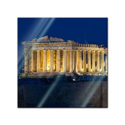 Bilderdepot24 Glasbild, Glasbild - Akropolis 30 cm x 30 cm
