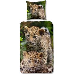 Kinderbettwäsche Leopards, good morning, mit Baby Leopard