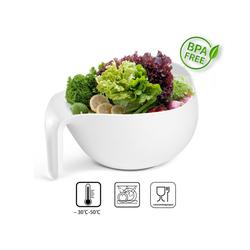 Plazotta Seiher Design Küchen Sieb / Abtropfsieb Weiß, Kunststoff, (Set)