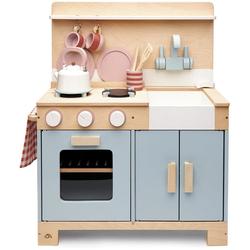 Tender Leaf Toys Spielküche Kinderküche grau, aus Holz grau Kinder Kinderküchen Zubehör Kaufladen