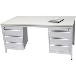 SZ METALL Schreibtisch 180 cm x 75 cm x 80 cm