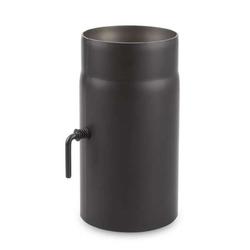 Ø 160 mm - Ofenrohr 25 cm mit Drosselklappe Schwarz
