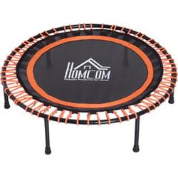 HOMCOM Trampolin für Kinder und Erwachsene schwarz, orange 101,6 x 25 cm (ØxH)   Mini-Trampolin Gartentrampolin Kindertrampolin