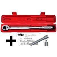 FAMEX Drehmomentschlüssel Drehmoment-Schlüssel-Set 3-tlg. (3 St), (3-tlg)30-210 Nm silberfarben