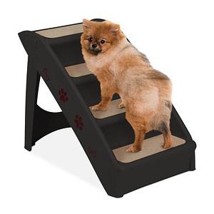 relaxdays Hundetreppe   schwarz 39,0 x 61,0 x 49,0 cm
