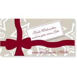 Geschenkaufkleber (10 Karten) selbst gestalten, Weihnachtliches Geschenkpapier - Gelb