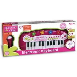 Elektronisches Keyboard, mit Mikrofon und Lichtshow fuchsia