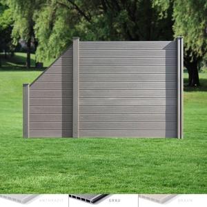 MUSTER I WPC Sichtschutz Zaun Lamellenzaun Gartenzaun Terrasse Steck Windschutz