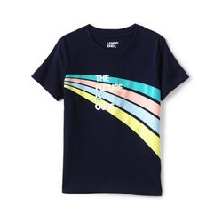 Grafik-Shirt, Größe: 122/128, Sonstige, Jersey, by Lands' End, The Future Is Ours - 122/128 - The Future Is Ours