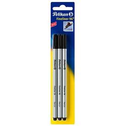 3 Pelikan 96 Fineliner schwarz 0,4 mm