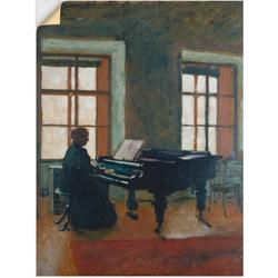 Artland Wandbild Am Klavier. 1910, Instrumente (1 Stück) 90 cm x 120 cm