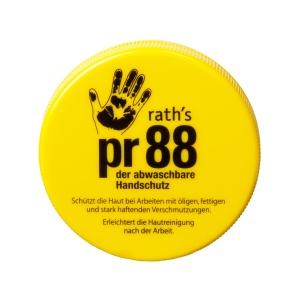 rath's pr 88 Hautschutzcreme, Abwaschbare Handschutzcreme für stark haftende Verschmutzungen, 100 ml - Dose